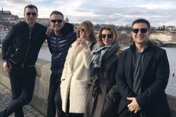"""Олена Зеленська і актори студії """"Квартал 95"""""""