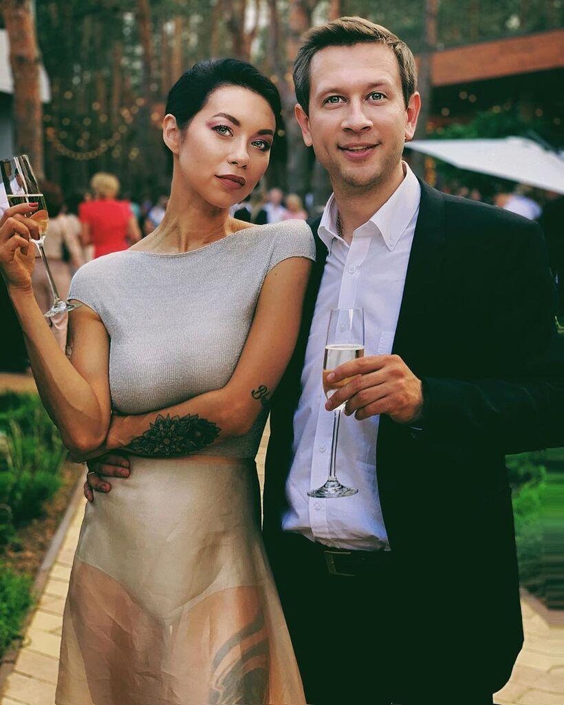 Полина Логунова с мужем