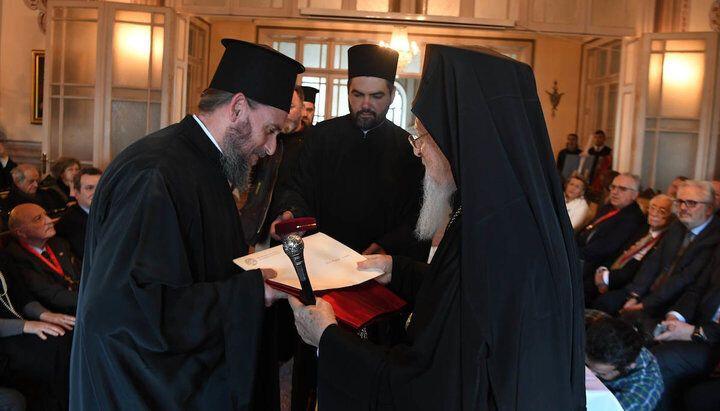 Єпископ Епіфаній із Константинопольським патріархом Варфоломієм