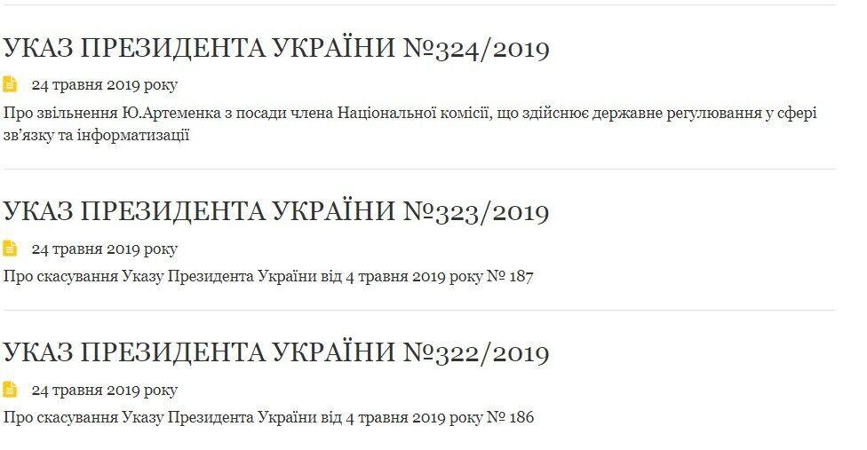 Зеленський скасував два укази Порошенка: що відомо