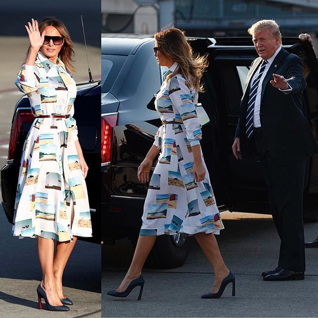 Мелания Трамп оконфузилась с нарядом: видео