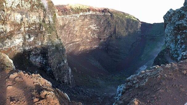 Вид на вулкані