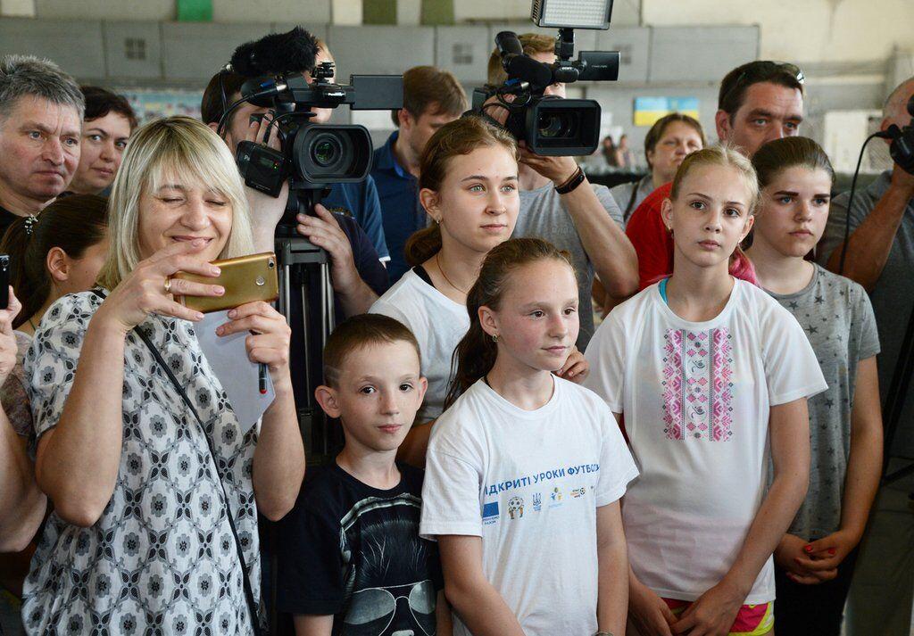 Воспитанники детско-юношеской спортшколы