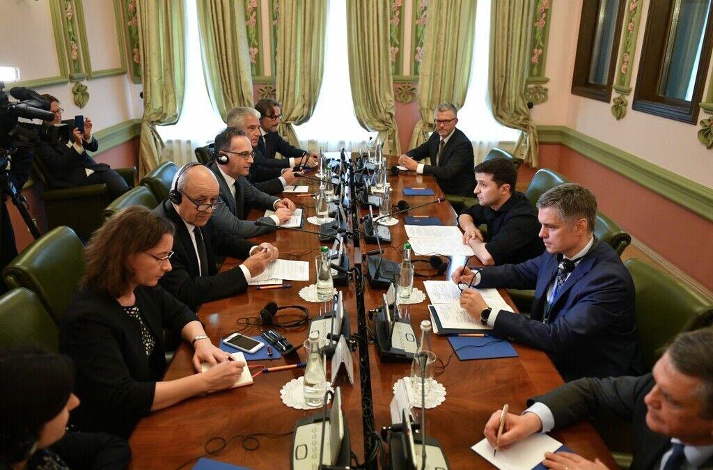 Зеленский встретился с главами МИД Франции и Германии