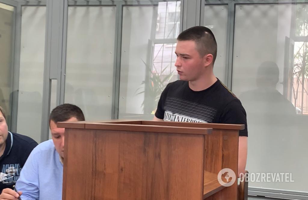 Андрій Дудка на суді