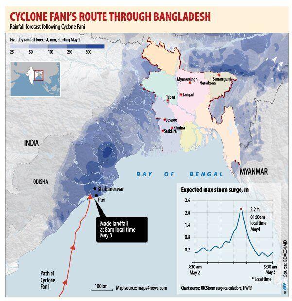 """Смертоносний циклон """"Фані"""" атакував ще одну країну"""