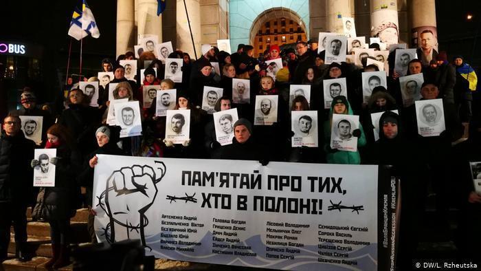 Акція на підтримку українців-заручників Кремля