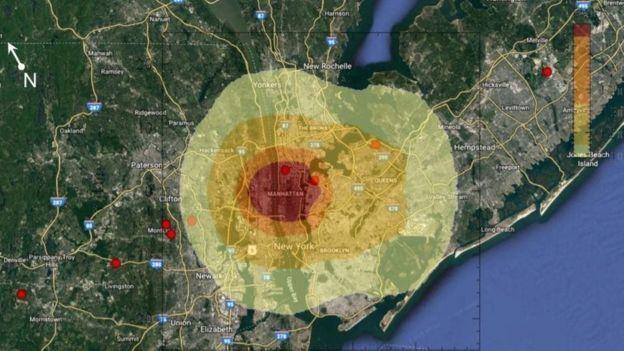 Астероид по сценарию взорвался над Манхеттеном