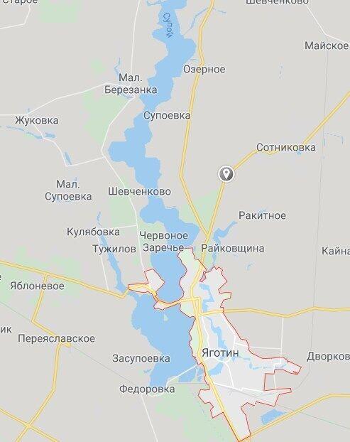 Авария произошла между Яготином и Сотниковкой