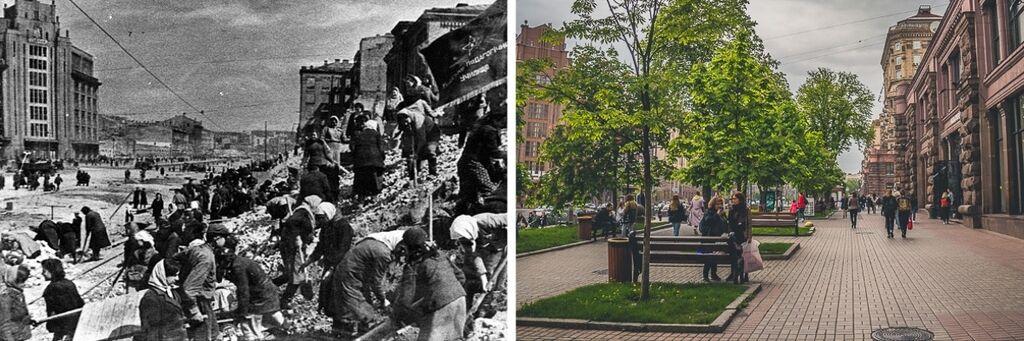 Як змінився Київ з Другої світової: фото