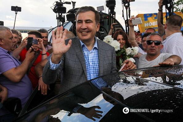 Бывший президент Грузии и экс-губернатор Одесской области Михеил Саакашвили вернулся в Украину