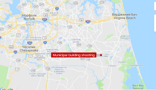 Место, где произошла стрельба