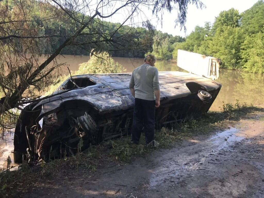 Место аварии в Винницкой области