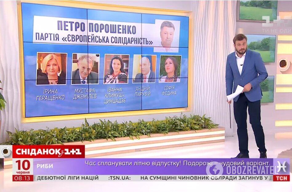Ведучий Єгор Гордєєв аналізує команду Петра Порошенка