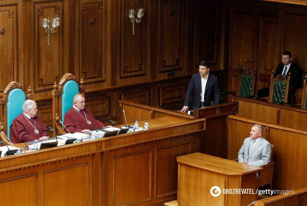 Володимир Зеленський виступив із промовою на засіданні КСУ 11 червня 2019 року