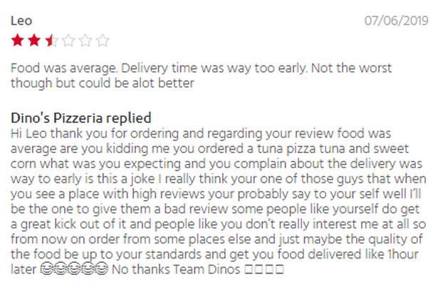 Клиент пожаловался на доставку пиццы и получил жесткий ответ