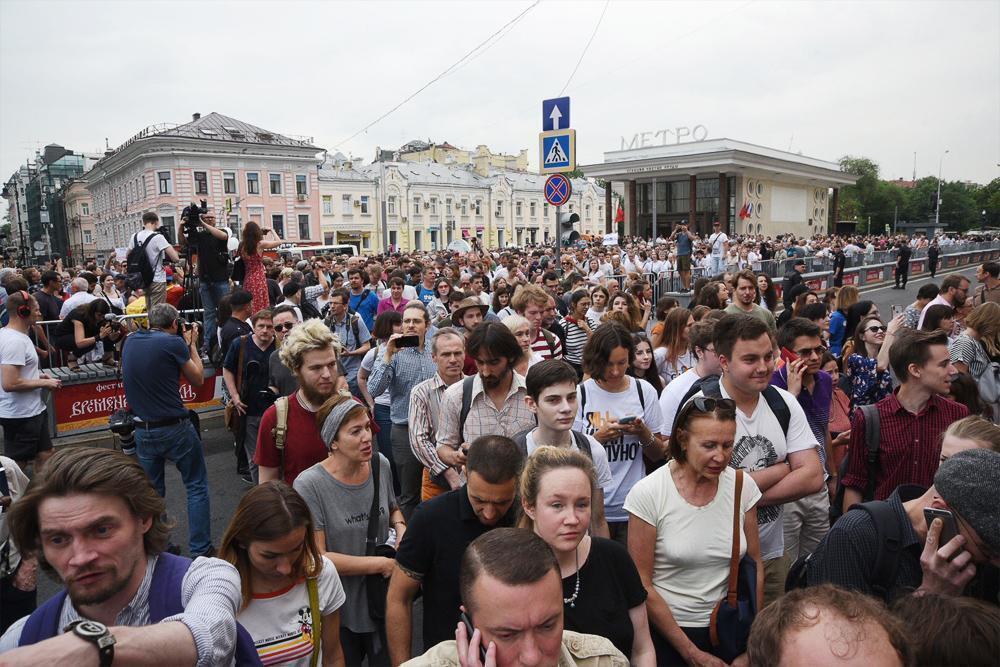 Марш в поддержку Голунова