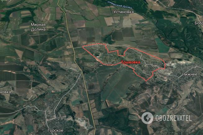 Авария произошла в поселке Тошковка Луганской области