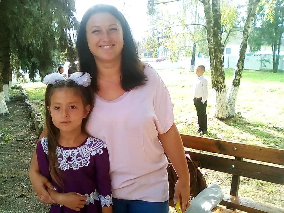 Світлана Асламова з донькою