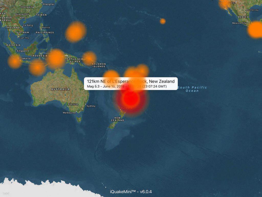 Карта землетрусу