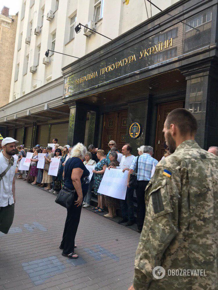 У мітингу взяли участь військові