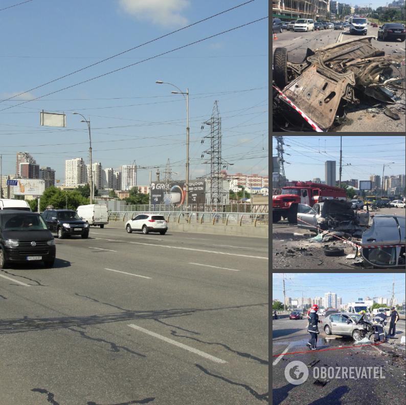 ДТП произошло на путепроводе возле Демеевской площади