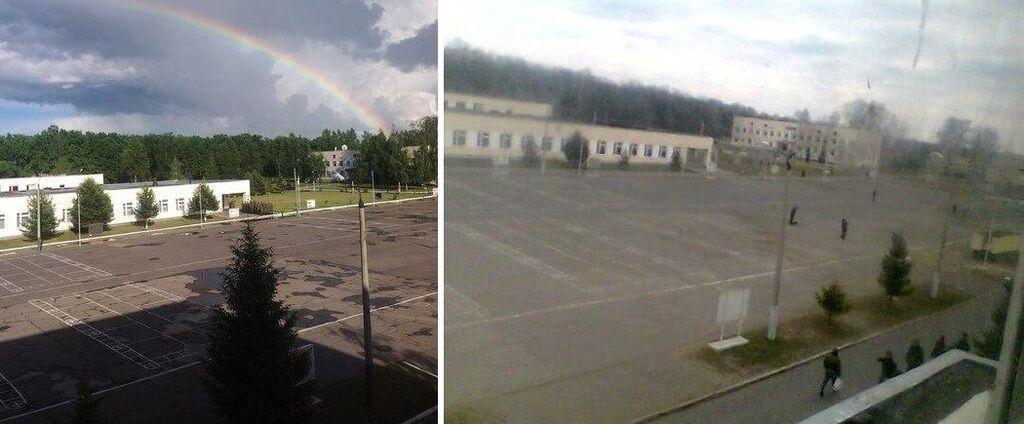Фото в соцсети совпадает с видом казармы в Курске
