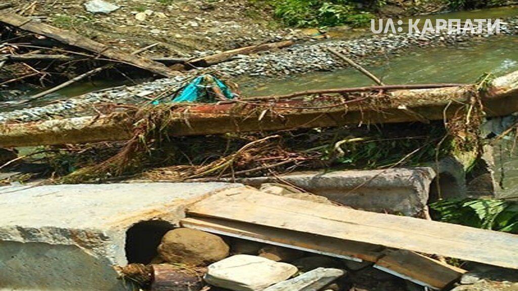 Руйнування мосту біля села Шепіт