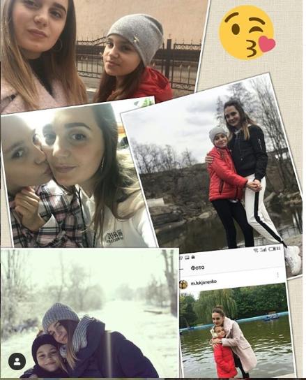 Даша с сестрой