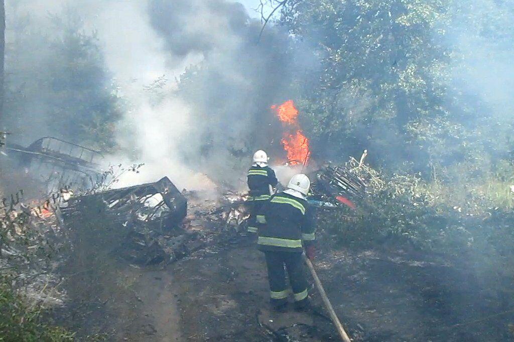 Спасатели ликвидировали огонь