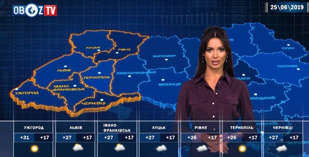Перепочинок від спеки: прогноз погоди на 25 червня від ObozTV