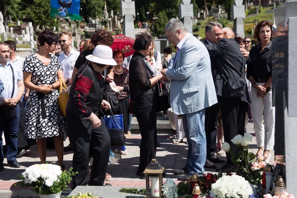 На Лычаковском кладбище во Львове помянули Василия Слепака