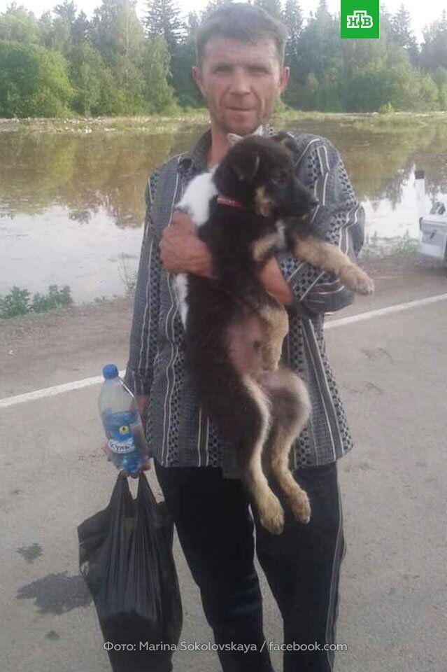 Врятований від повені в Іркутську