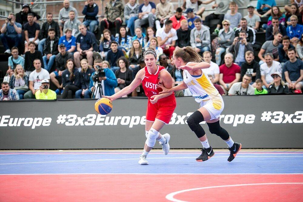 Украинки выиграли в Киеве группу в квалификации к Евробаскету 3х3