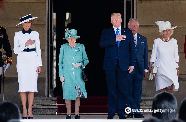 Без Маркл: в сети появились фото Трампа с королевой и семьей
