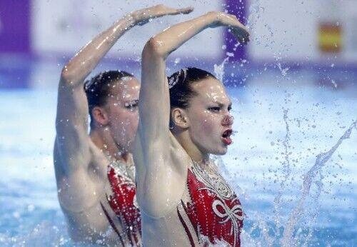 Золотые медалистки Марта Федина и Анастасия Савчук