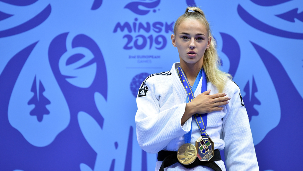 Дарья Белодед – дзюдо. Победа в суперлегком весе до 48 кг.