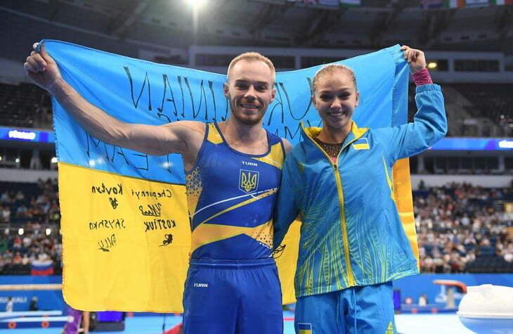 Олег Верняев – спортивная гимнастика, победа в упражнениях на брусьях
