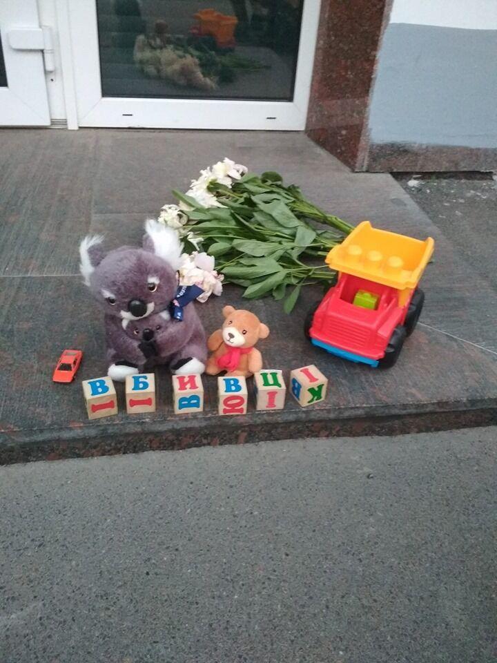 Под МВД прошла акция памяти погибшего ребенка