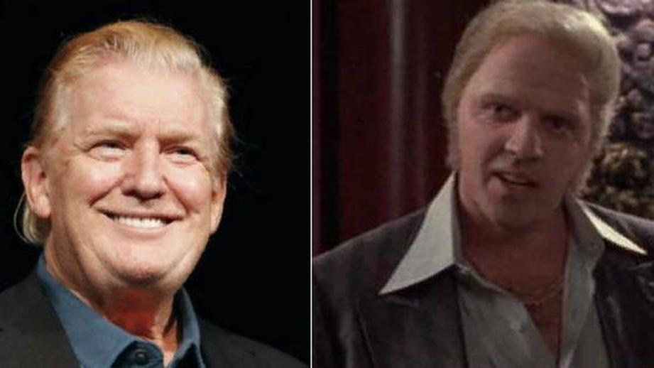 """Дональд Трамп и Бифф из трилогии """"Назад в будущее""""."""