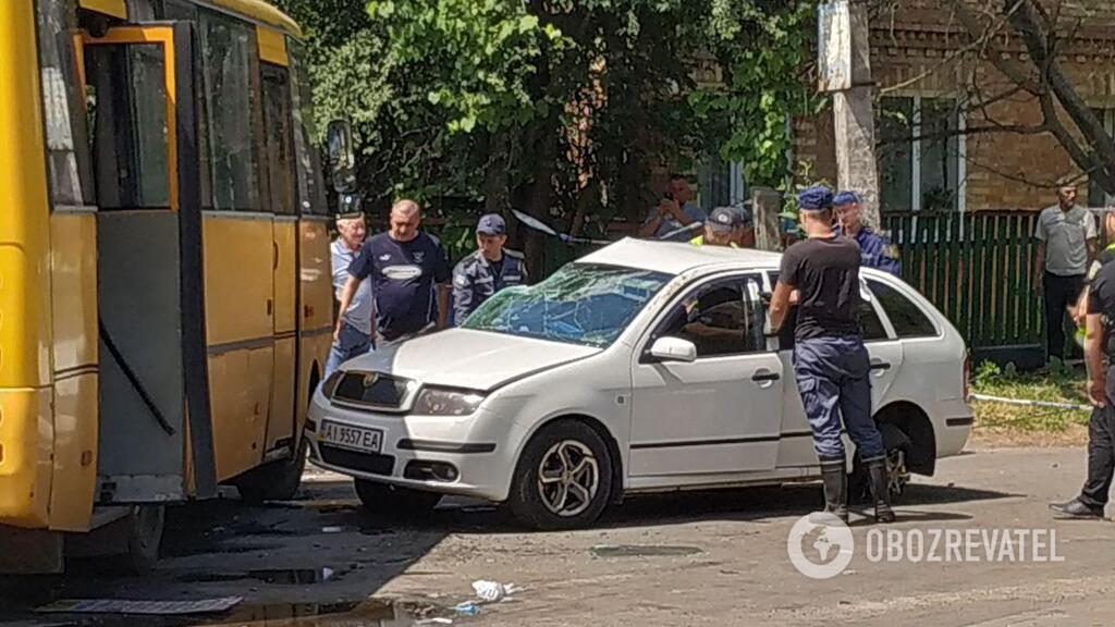 Под Киевом произошла авария с двумя маршрутками: есть пострадавшие