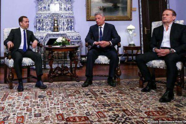 Встреча Виктора Медведчука и Юрия Бойко с Дмитрием Медведевым в Кремле
