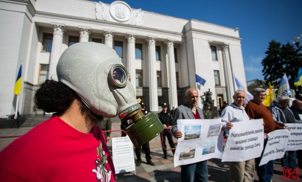 Пикет в поддержку экологических законов во ВРУ