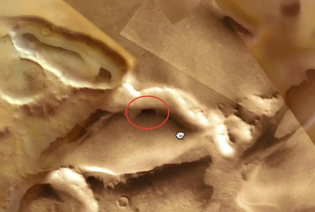 Лик демона обнаружен на Марсе