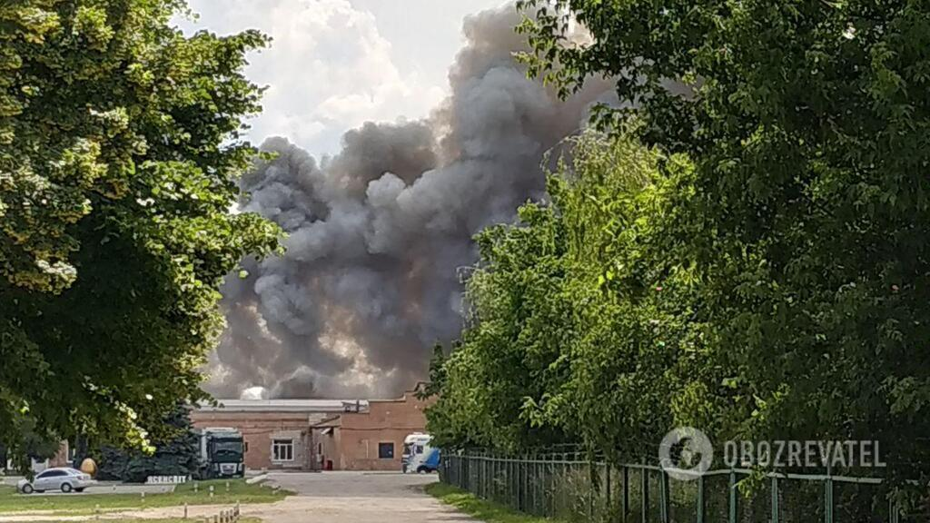 Пожар в Василькове на птицефабрике