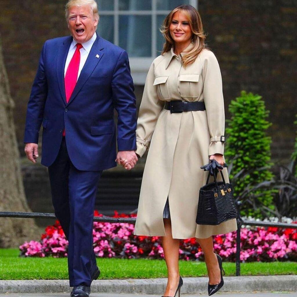 Мелания и Дональд Трамп на Garden Party