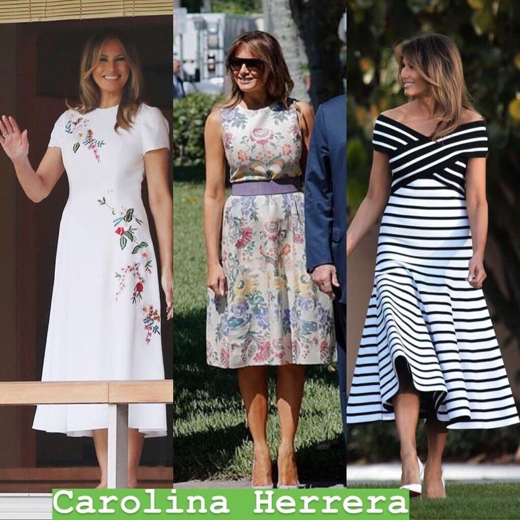Несколько вариантов платьев Мелании Трамп