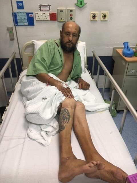 Борис Деркач в клинике Куала-Лумпура