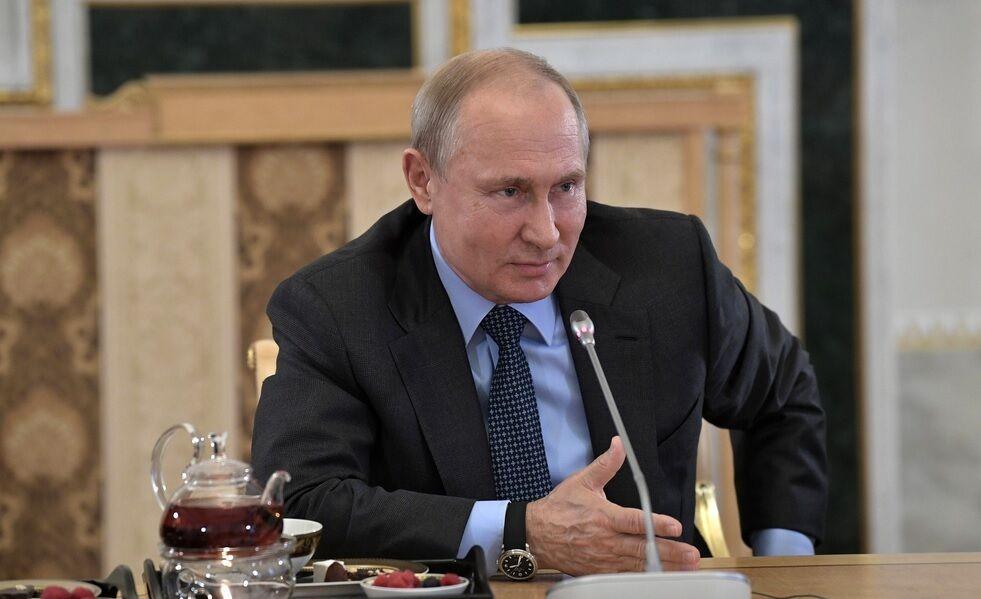 Президент РФ Владимир Путин на встрече с руководителями ведущих мировых информационных агентств