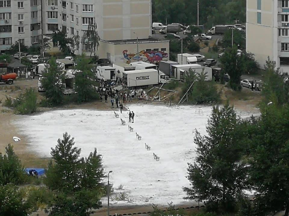 """Съемки сериала """"Чернобыль"""" в Киеве"""